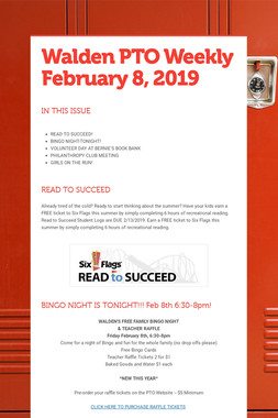 Walden PTO Weekly February 8, 2019