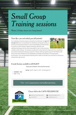 Small Group Training sessions