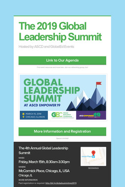 The 2019 Global Leadership Summit