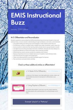 EMIS Instructional Buzz