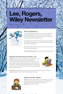 Lee, Rogers, Wiley Newsletter