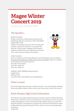 Magee Winter Concert 2019
