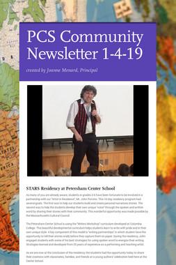 PCS Community Newsletter 1-4-19