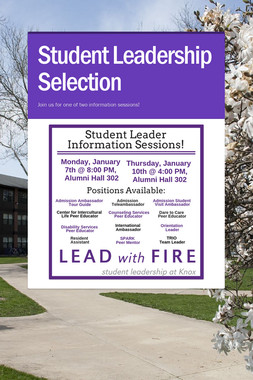 Student Leadership Selection