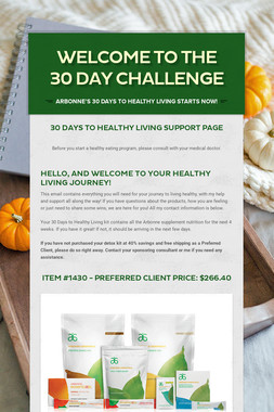Welcome to the 30 Day Challenge