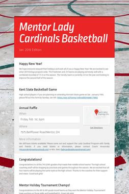 Mentor Lady Cardinals Basketball