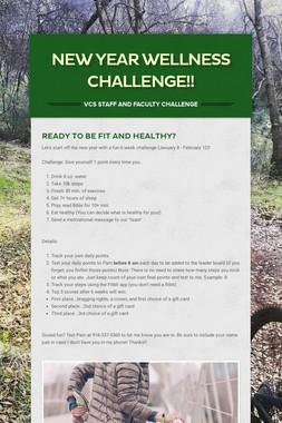 New Year Wellness Challenge!!
