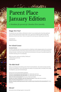 Parent Place January Edition