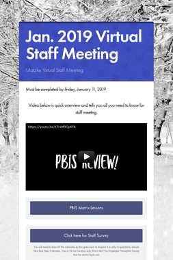 Jan. 2019 Virtual Staff Meeting