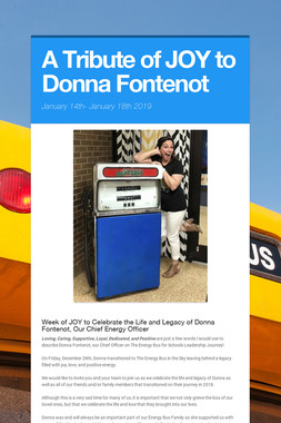 A Tribute of JOY to Donna Fontenot