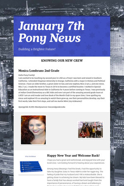 January 7th Pony News