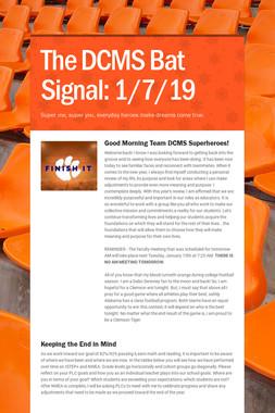 The DCMS Bat Signal: 1/7/19