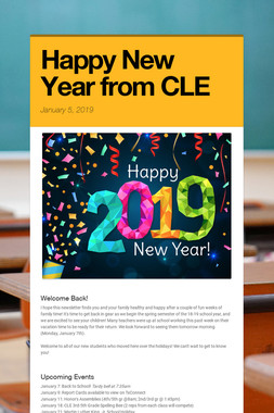 Happy New Year from CLE