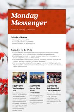 Monday Messenger