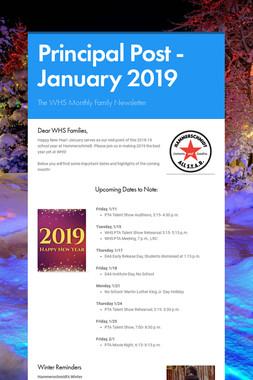 Principal Post -January 2019