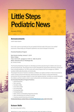 Little Steps Pediatric News