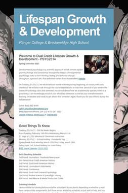 Lifespan Growth & Development