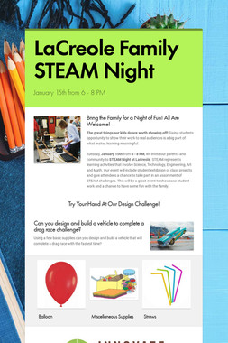 LaCreole Family STEAM Night