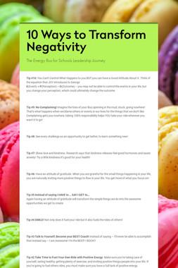 10 Ways to Transform Negativity