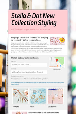 Stella & Dot New Collection Styling