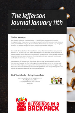 The Jefferson Journal January 11th