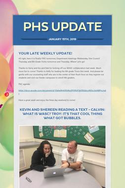 PHS Update