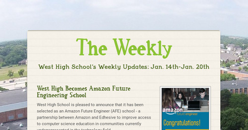 The Weekly   Smore Newsletters for Education