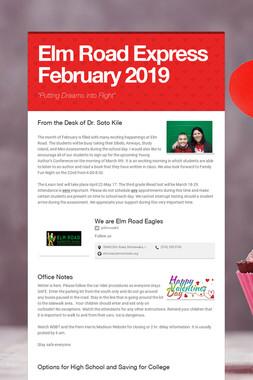 Elm Road Express     February 2019