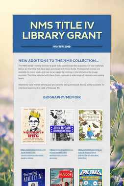 NMS Title IV Library Grant