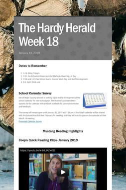 The Hardy Herald Week 18