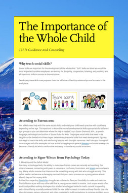 The Importance of the Whole Child