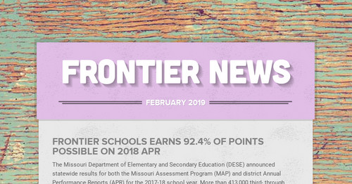 Frontier News Smore Newsletters For Education