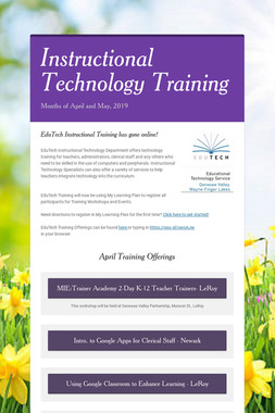 Instructional Technology Training