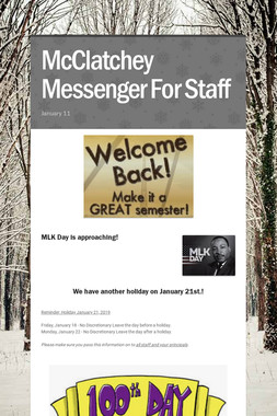 McClatchey Messenger For Staff