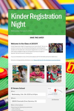Kinder Registration Night