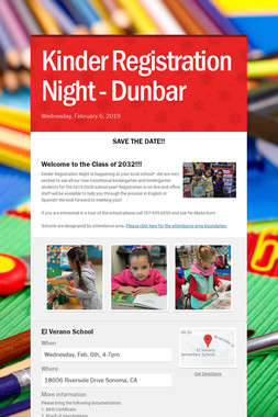 Kinder Registration Night - Dunbar