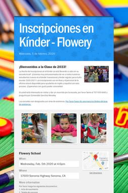 Inscripciones en Kínder - Flowery