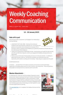Weekly Coaching Communication