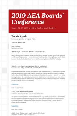 2019 AEA Boards' Conference