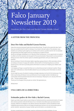 Falco January Newsletter  2019