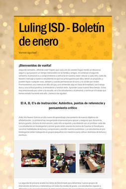 Luling ISD - Boletín de enero