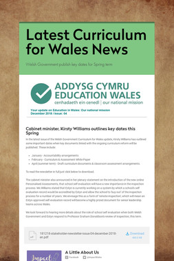 Latest Curriculum for Wales News