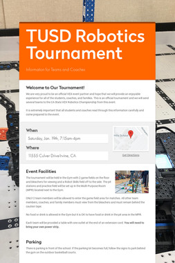 TUSD Robotics Tournament
