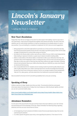 Lincoln's January Newsletter