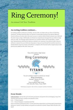 Ring Ceremony!