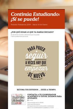 Continúa Estudiando: ¡Sí se puede!