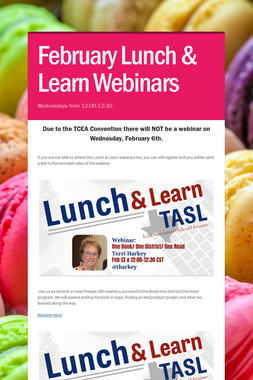 February Lunch & Learn Webinars
