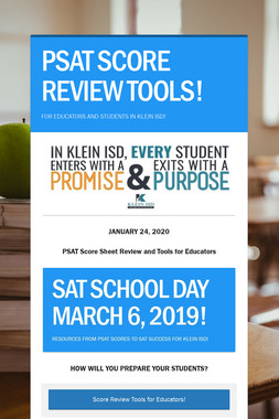 PSAT SCORE REVIEW TOOLS!