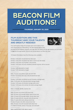 Beacon Film Auditions