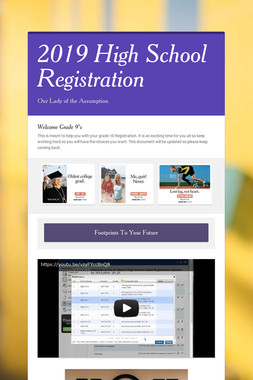 2019 High School Registration